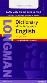 Longman Dictionary of Contemporary English 6 online 1 year single